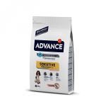 Advance Dog Sensitive для собак, чувствительное пищеварение с лососем и рисом, вес 12 кг.