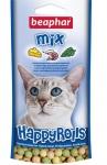 Beaphar Happy Rolls Mix рулеты для кошек с креветками, сыром и кошачьей мятой 80шт