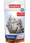 Beaphar Malt Bits light подушечки для кошек, склонных к лишнему весу 35г