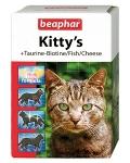 Beaphar Киттис-микс витамины для кошек таурин/биотин/протеин/сыр, 180 таблеток