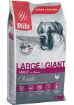 Blitz Dog Large&Giant для собак крупных пород с курицей, вес 15 кг.