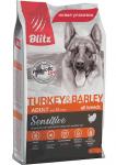 Blitz Dog для собак с индейкой и ячменем, вес 15 кг.