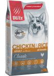 Blitz Dog для собак с курицей и рисом, вес 15 кг.