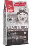 Blitz Dog для собак с ягненком и рисом, вес 15 кг.