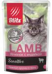 Blitz паучи для кошек ягненок с индейкой в желе, 85 гр.