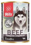 Blitz консервы для собак говядина с индейкой, 400 гр.