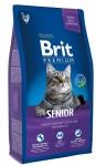 Brit Premium для кошек пожилых с курицей и печенью, вес 8 кг