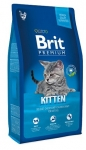 Brit Premium Kitten для котят с курицей в лососевом соусе, 1,5 кг