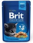 Brit Premium пауч для котят с курицей, 100г