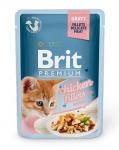 Brit Premium пауч для котят куриное филе в соусе, 85г