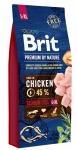 Brit Premium by Nature Senior L+XL для пожилых собак крупных и гигантских пород, 15 кг