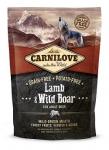 Carnilove Lamb & Wild Boar Dog беззерновой для взрослых собак всех пород, ягненок и дикий кабан,вес 1,5 кг