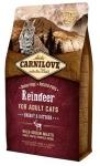Carnilove Reindeer for Adult Cats Energy & Outdoor для активных кошек, северный олень 2 кг