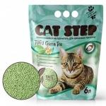 Наполнитель Cat Step растительный комкующийся с ароматом зеленого чая, 6 л.
