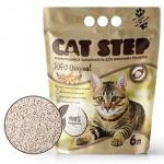 Наполнитель Cat Step растительный комкующийся, 6 л.