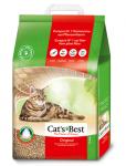 Cats Best Original комкующийся наполнитель для кошачьего туалета, древесный, вес 9 кг (20 л)