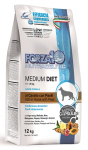 FORZA10 Diet для собак средних, монобелковый из конины с горохом, 12 кг.