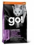 GO! Solutions для кошек и котят 4 мяса (курица,индейка,утка,лосось), беззерновой, вес 7,26 кг.