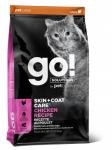 GO! для котят и кошек с цельной курицей, фруктами и овощами, вес 1,36 кг.