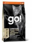 GO! для котят и кошек с ягненком и мясом дикого кабана, беззерновой, вес 3,63 кг.