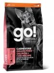 GO! Solutions для собак и щенков с лососем и треской, беззерновой, вес 1,59 кг.