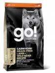 GO! Solutions для собак и щенков с ягненком и мясом дикого кабана, беззерновой, вес 1,59 кг.