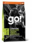 GO! Solutions для щенков всех пород 4 мяса (индейка, курица, лосось, утка), беззерновой, вес 5,45 кг.