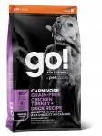 GO! Solutions для пожилых собак всех пород 4 мяса (индейка, курица, лосось, утка), беззерновой, вес 1,59 кг.