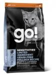 GO! для котят и кошек с чувствительным пищеварением с минтаем, вес 1,36 кг.