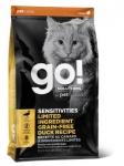 GO! для котят и кошек с чувствительным пищеварением со свежей уткой, вес 7,26 кг.