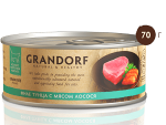 GRANDORF консервы д/кошек филе тунца с лососем в собственном соку 70г