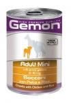 Gemon консервы Mini для собак мелких пород кусочки курицы с рисом, 415г