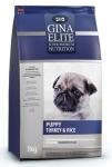 Gina Elite Puppy Turkey & Rice для щенков с индейкой и рисом (Великобритания), 15 кг.