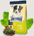 Happy Dog Supreme для юниоров средних и крупных с ягненком и рисом, вес 4 кг.