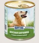 Happy Dog консервы для собак Nature Line баранина с сердцем, печенью и рубцом, 750г.
