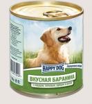 Happy Dog консервы для собак Nature Line баранина с сердцем, печенью, рубцом и рисом, 750г.