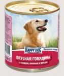 Happy Dog консервы для собак Nature Line говядина с сердцем, печенью и рубцом, 750г.