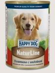 Happy Dog консервы для собак Nature Line с телятиной и индейкой, 400г.