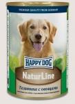 Happy Dog консервы для собак Nature Line с телятиной и овощами, 400г.