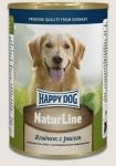 Happy Dog консервы для собак Nature Line с ягнёнком и рисом, 400г.