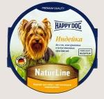 Happy Dog консервы для собак Nature Line паштет, индейка, 85г.