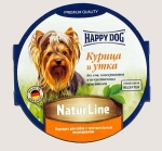 Happy Dog консервы для собак Nature Line паштет, курица и утка, 85г.