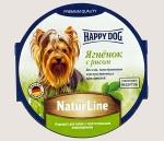 Happy Dog консервы для собак Nature Line паштет, ягнёнок и рис, 85г.