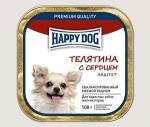 Happy Dog консервы для собак мелких пород паштет, телятина с сердцем, 100г.