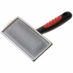 Hello PET Пуходерка металлическая с пластиковой черной ручкой большая арт.168112L