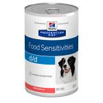 Hill's Diet консервы для собак d/d диета при пищевой аллергии с лососем, вес 370 гр.