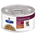 Hill's Diet консервы для кошек i/d лечение ЖКТ, рагу с курицей, вес 82 гр.