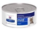 Hill's Diet консервы для кошек m/d при избыточном весе или сахарном диабете, 156 гр.