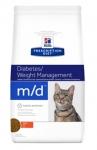 Hill's Diet m/d для кошек с избыточным весом или сахарным диабетом, 1,5 кг
