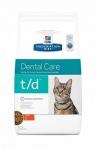 Hill's Diet t/d для кошек Профилактика зубного камня, 1,5 кг.